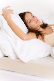 Bedroom - young woman sleeping Stock Photography