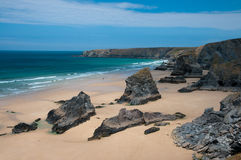 Bedruthan Steps Royalty Free Stock Photography