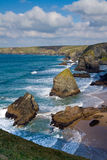 Bedruthan Steps Carnewas Cornwall England Stock Photography