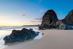 Bedruthan Steps Cornwall England UK Europe Stock Photography