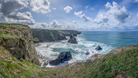 Bedruthan steps in cornwall england uk kernow Stock Images