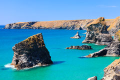 Bedruthan Steps Cornwall Stock Image