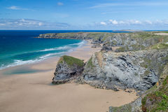 Bedruthan Steps stunning beach and stacks Stock Photo