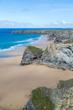 Bedruthan Steps stunning beach and stacks Stock Images