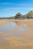 Bedruthan Steps stunning beach and stacks Royalty Free Stock Image