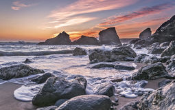 The Bedruthan Steps Stock Photo