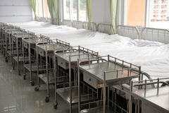 Beds in hospital Stock Images