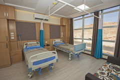 Beds in a hospital ward Royalty Free Stock Image