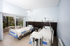 Beds In Rehabilitation Center Stock Image
