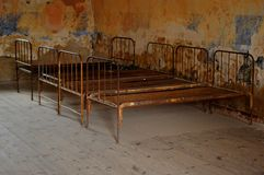 Beds at Terezin concentration camp Czech Republic stock images