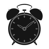 Bedside clock icon in black style isolated on white background. Sleep and rest symbol stock vector illustration. Stock Photos