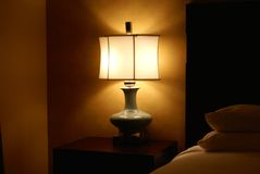 Bedside lamp Stock Photography