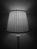 Bedside Lamp in Black and White Royalty Free Stock Image