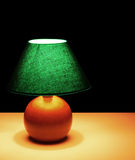 Bedside lamp, light at night - background Royalty Free Stock Photo