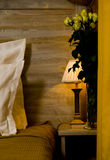 Bedside night lamp Royalty Free Stock Photo