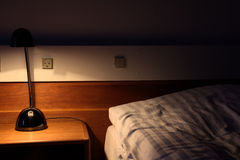 Bedside at night Royalty Free Stock Images
