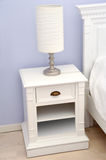 Bedside table with lamp Stock Image