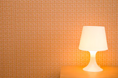 Bedside table lamp Stock Photo
