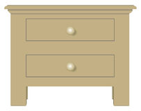 Bedside table with two drawers Royalty Free Stock Photos