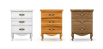 Bedside tables, a collection of wooden furniture Royalty Free Stock Photography
