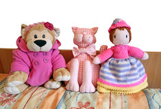 Bedtime buddies Stock Photo