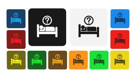 Bedtime icon, sign,illustration. Bedtime icon, sign,best illustration Stock Photography