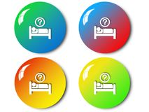 Bedtime icon, sign, illustration Royalty Free Stock Image