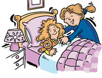 Bedtime With Mother Stock Image