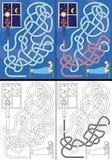 Bedtime story maze Stock Image