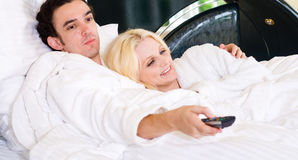 Bedtime tv show Stock Photography