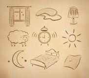 Bedtime vector set Stock Image