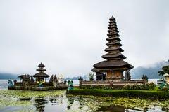 Bedugal temple , lake Braton Bali Indonesia Royalty Free Stock Photography
