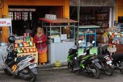 Магазин и велосипеды в Bedugul стоковая фотография
