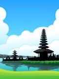 Bedugul Bali Hintergrund Lizenzfreies Stockbild