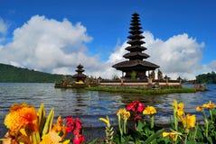 Bedugul o templo de flutuação Foto de Stock Royalty Free