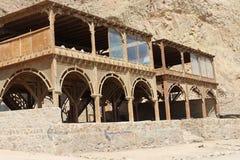 Beduińska restauracja w mieście Daha Zdjęcia Royalty Free