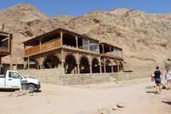 Beduińska restauracja w mieście Daha Obrazy Stock