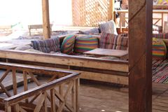 Beduińska restauracja w mieście Daha Fotografia Stock