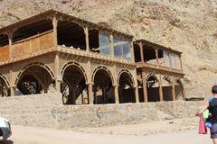 Beduińska restauracja w mieście Daha Zdjęcie Royalty Free