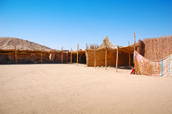 beduińska pustynna wioska Zdjęcia Stock