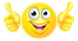 Beduimelt emoticon omhoog emoji Stock Fotografie
