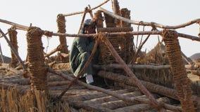 Beduin in de Sahara Stock Fotografie