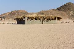 Beduin house. In egyptian desert stock images