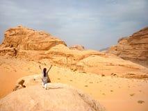 Beduin i Wadi Rum Royaltyfria Foton