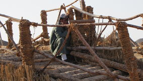 Beduin in Sahara. Africa, jeep safari Stock Photography