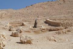 Beduin w pustyni, Egipt, Luxor, Maj 14th, 2015 Zdjęcie Royalty Free