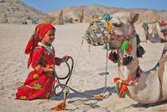 beduinbarn Royaltyfri Fotografi