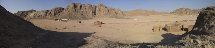 Beduine Dorf in den Bergen in Hurghada Stockfotos