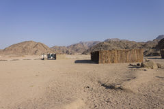 Beduine Dorfgebäude in Hurghada Lizenzfreies Stockbild