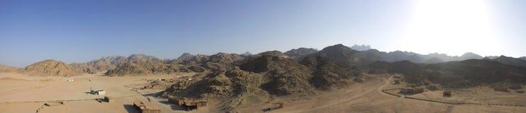 Beduine Dorfpanorama in Hurghada Stockfotografie